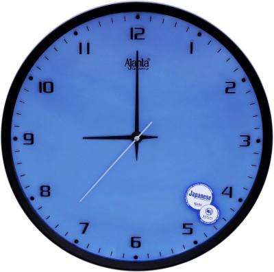 ajanta orpat Analog Wall Clock(Black, Blue, With Glass)