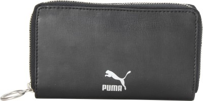 Puma Men Black Artificial Leather Wallet 6 Card Slots