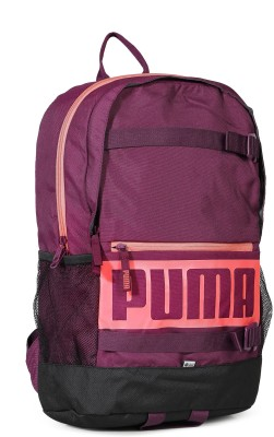 Puma Deck 24 L Laptop Backpack(Purple, Black)