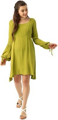Dressberry Women A-line Green Dress