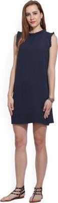 AND Women Shift Blue Dress at flipkart