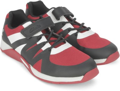 Clarks Boys & Girls Lace Running Shoes(Red)