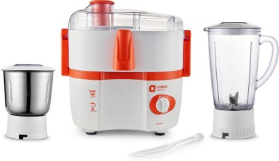 Orient Electric Aisha JM5003F 450 W Juicer Mixer Grinder(White and Orange, 2 Jars)