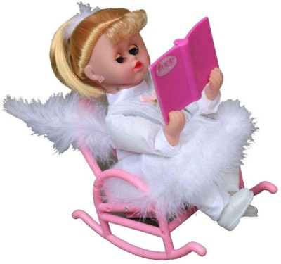 j h traders musical book reading chair doll(White)  available at flipkart for Rs.499
