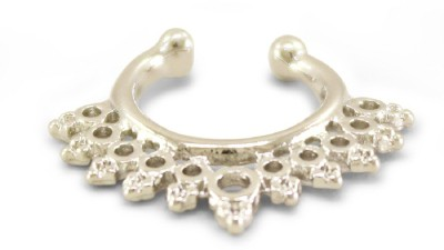Fabfashion Platinum Plated Alloy Nose Ring  available at flipkart for Rs.120