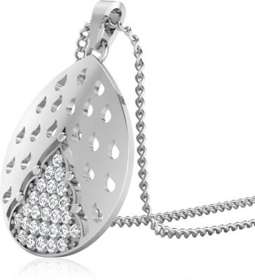 IskiUski Ries Diamond Pendant Gold-plated Swarovski Zirconia Sterling Silver Pendant