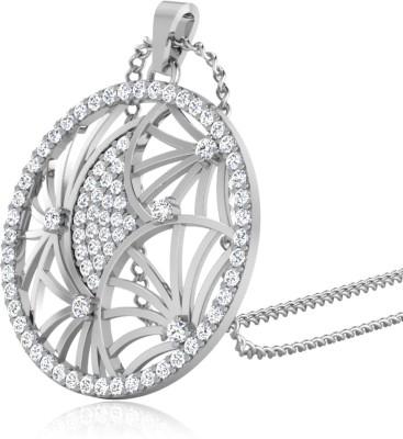IskiUski Keyiara Diamond Pendant Gold-plated Swarovski Zirconia Sterling Silver Pendant