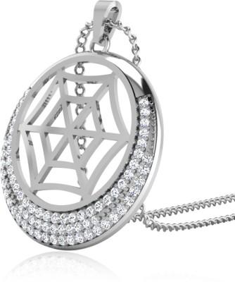 IskiUski Lizavet Diamond Pendant Gold-plated Swarovski Zirconia Sterling Silver Pendant