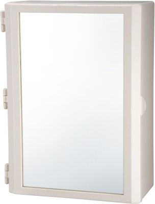 Wintex Compact Mirror Cabinet Plastic Wall Shelf(Number of Shelves - 4, Beige)