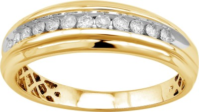 5aca7914ce904 LOLLS Designer Collection Wedding Band Ring Silver Cubic Zirconia 14K  Yellow Gold Plated Ring