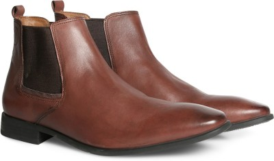 Hush Puppies By Bata NEW FRED CHELSEA Boots For Men(Brown)