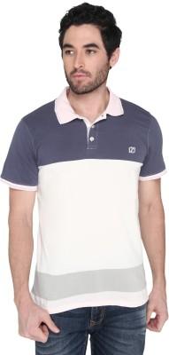 Zido Self Design Men Polo Neck Multicolor T-Shirt