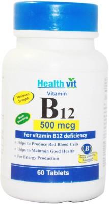 Healthvit B12 500 mcg Supplement (60 Tablets)