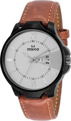 Marco MR-GR3051-WHT-BRW  Analog Watch For Men