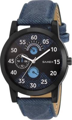 SAMEX LATEST DESIGNER BLUE COLOR MENS WATCH BRANDED DENIM STRAP NEW SWISS BEST PRICE WATCH Watch  - For Men & Women