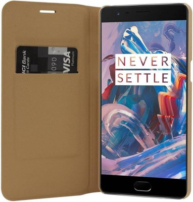 XOLDA Flip Cover for OnePlus 3 Gold