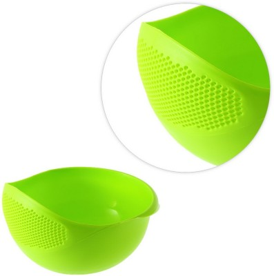 MUKTI Rice - Fruit Washing Bowl Plastic Fruit & Vegetable Basket(Multicolor) at flipkart