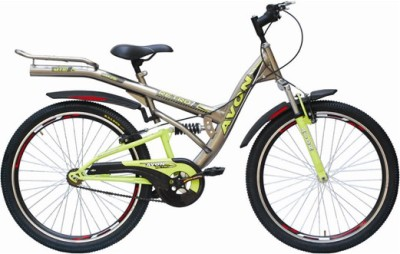 Avon Retro Double Suspension 26 T Single Speed Mountain Cycle(Grey)  available at flipkart for Rs.6149