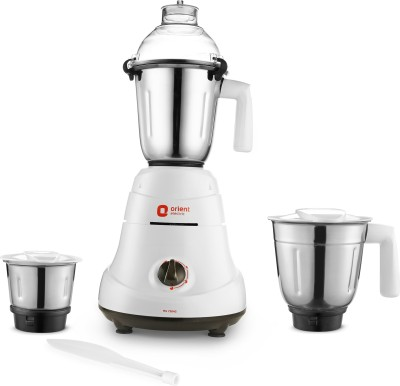 Orient Electric Adele MG7504G 750 W Mixer Grinder(White and Grey, 3 Jars)