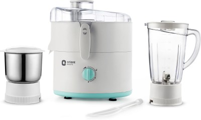 Orient Electric Kitchen Kraft | JMKK45B2 450 W Juicer Mixer Grinder(White – Turquoise Blue, 2 Jars)