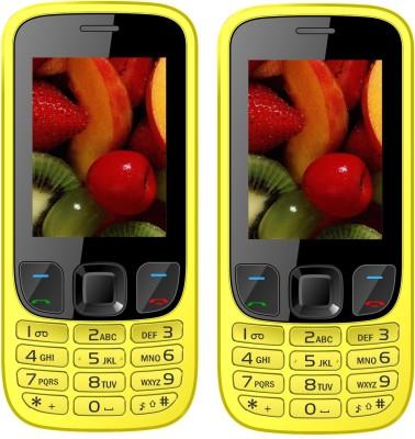 I Kall K29 Combo of two Mobile(Yellow, Yellow)