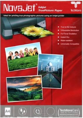 Novajet High Glossy 240 GSM - 20 Sheets Inkjet Photo Paper Unruled A4 Photo Paper(Set of 1, White)