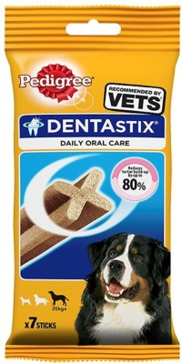 Pedigree Daily Oral Care Denta Stix Large (7 in 1) (Pack Of 5) By Pawsitively Pet Care Chicken Dog Treat(900 g, Pack of 5)