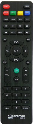 PARSHWA 23 Compatible 3 Led/Lcd TV Remote Controller(Black)