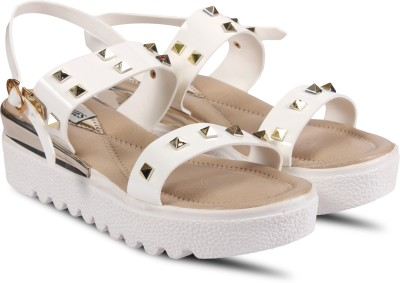 Anand Archies Women White Wedges Anand Archies Wedges