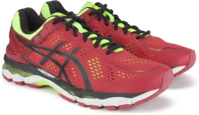 Asics GEL-KAYANO 22(SW Running Shoes For Men(Red)  available at flipkart for Rs.8119