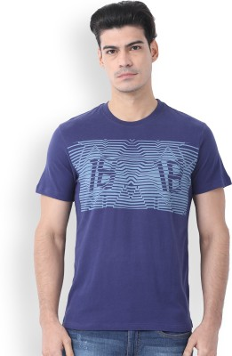 WROGN Printed Men's Round Neck Purple T-Shirt