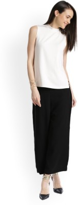 W Regular Fit Women Black Trousers at flipkart