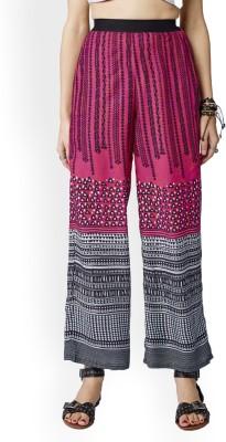 Global Desi Regular Fit Women Multicolor Trousers at flipkart