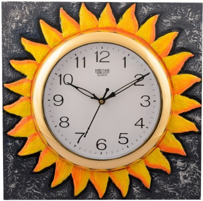 eCraftIndia Analog 30 cm X 30 cm Wall Clock(Multicolor, With Glass) at flipkart