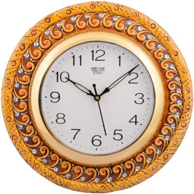 eCraftIndia Analog 30 cm X 30 cm Wall Clock(Multicolor, With Glass) at flipkart