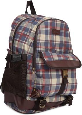 The Vertical KRUGER 24 L Laptop Backpack Red, Blue, Beige The Vertical Backpacks