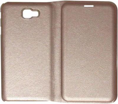 Mozette Flip Cover for Samsung Galaxy J7 Prime Gold