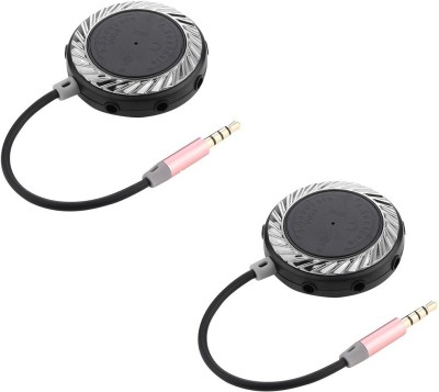 Microvelox Combo pack of earphone & audiospiltter Wired Headset with Mic(Black, In the Ear)