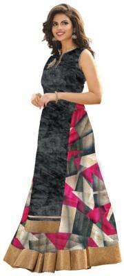 HansCreation Art Silk Floral Print Semi-stitched Lehenga Choli Material
