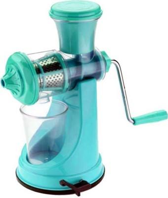 WYVERN Deluxe Fruit & Vegetable Manual Juicer Mixer Grinder With Steel Handle Polypropylene Plastic Hand Juicer(Blue)  available at flipkart for Rs.379