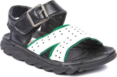 N Five Boys Velcro Strappy Sandals(White) at flipkart