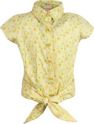 Cutecumber Baby Girls Casual Cotton Blend Top(Multicolor, Pack of 1) at flipkart
