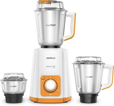 Havells Super Mix Nv 500 W Mixer Grinder(Orange, 3 Jars)