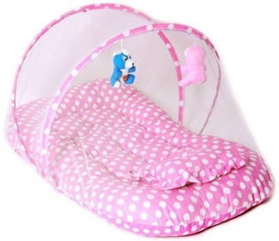 pluto kids Cotton Infants Cotton Padded Mosquito Net(Pink, Light Blue, Dark Blue) at flipkart