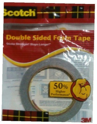 3M tape - foam type (Manual)(Set of 1, White)  available at flipkart for Rs.180
