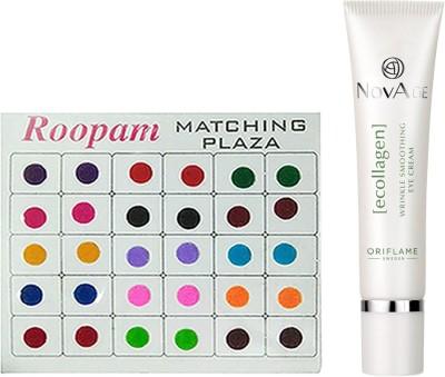 Oriflame Sweden Bindi with NovAge Ecollagen Wrinkle Smoothing Eye Cream(15ml)(Set of 2)