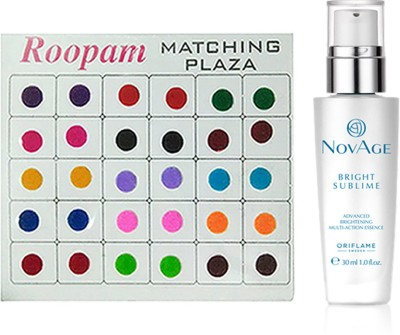 Oriflame Sweden Bindi with NovAge Bright Sublime Advanced Brigthening Multi-action Essence(30ml)(Set of 2)