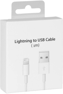 Delmohut ChargIing Data & Sync Cable For Apple iPhone 5 5S 6 6 Plus 6S 6S Plus 7 7 Plus (1M) USB Cable (White) Sync & Charge Cable(White)