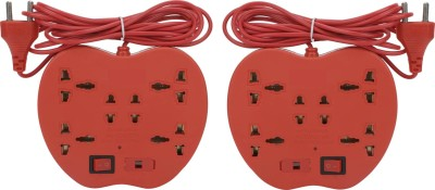 S.Blaze Combo of 2 Multi-Colour 6+1 ABS Body Extension Board / Power Strip with ON / OFF Switch with 3-4m lengthy wire. 2 Two Pin Socket + 4 A Three Pin Socket  available at flipkart for Rs.399