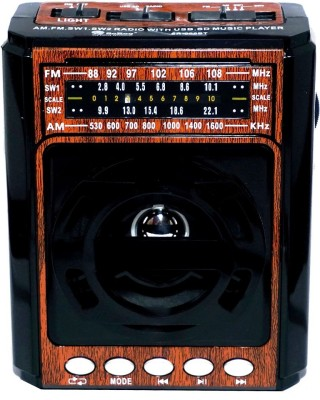 Yuvan So-Ro 999 Bluetooth 4 Band USB/SD Player With FM Radio(Wooden)  available at flipkart for Rs.947